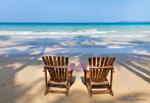 wooden beach chairs