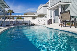 pool outside vacation rental