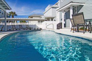 pool outside vacation rental